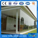 De alto grado de acero de seguridad comercial dobles puertas de vidrio sin marco