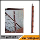 Balaustre elegante de la barandilla del acero inoxidable del diseño para la escalera o el balcón