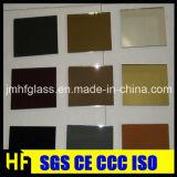 L'or, bronze, bleu, vert, gris, noircissent le miroir teinté