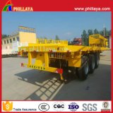 3-Tri-Axle 20-40FT 40-60ton High-Bed Plataforma Camião Flatbed Container Semi-Trailer