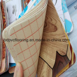 Пластичный деревянный пол, польностью водоустойчивый деревянный цвет прокатанный настил