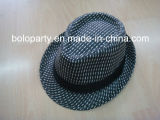 Sombrero de ala Paper Straw Hat de Brown con Leather Belt