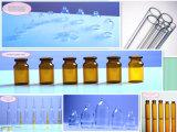 10ml het neutrale AmberdieFlesje van het Glas Borosilicate door Ingevoerde Buis wordt gemaakt