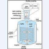 Reactor químico industrial vestido para el líquido químico