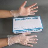 Gants transparents libres d'examen de vinyle de poudre et de couleur de poudre