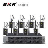 Kx-D818 sistema del micrófono de la frecuencia ultraelevada 8CH Bodypack