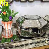 Material cosmético de la joyería de la caja de la belleza antigua del espejo para el rectángulo de cristal