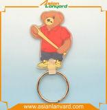 Trousseau de clés personnalisé de PVC de mode 2D