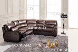 Base di sofà di cuoio moderna dell'angolo della mobilia (657)