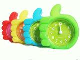 Силикона формы перста малыша часы стола милого портативного миниые