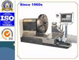 Torno horizontal personalizado do CNC para girar o molde segmentado do pneu (CK61160)