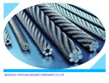 Corda del filo di acciaio della fune metallica di DIN3055 Galvanzied