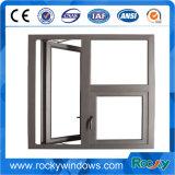 Ventana de aluminio de capa del marco blanco del polvo popular