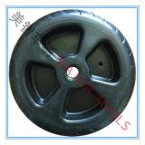 roda de sopro plástica material do PE 7.5X2.5 para o trole do vagão