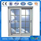 Polvo blanco Revestimiento de aluminio deslizamiento vertical del marco de Windows