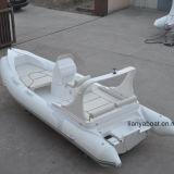 Venda rígida do barco do reforço do barco da casca do iate do luxo de Liya 20ft