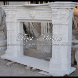 Bordi bianchi Mfp-475 del camino di Carrara del granito di pietra di marmo