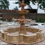 Fontana dorata Mf-1022 del calcio del granito del travertino di pietra di marmo del giardino