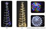 건전지에 의하여 운영하는 Sc Stl를 가진 요전같은 나선 LED 크리스마스 나무
