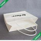 Embossed Logo White Paper Print Packing Bag pour chemise