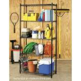 DIY Puder-Beschichtung-Metalldraht-Speicher-Zahnstangen-Regal für Haus/Garage (LD12045180A4E)