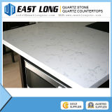 Countertop камня кварца Carrara мраморный цвета белый, сляб кварца, плитка кварца