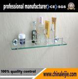 Étagère en verre de série de garnitures de salle de bains d'acier inoxydable de qualité pour l'hôtel (LJ55412)