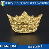 Mancuerna de oro de la corona del recuerdo de encargo moderno de la promoción de la fábrica