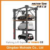 Empilhador hidráulico de três carros de quatro bornes
