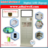 "32 ""Full HD Touch LCD Kiosk Public Free Mobile Phone com Mfi Cable Charging Station"