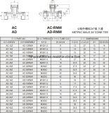 Kegel-Stück-Rohr-Adapter des Wechselstrom-Anzeigen-metrische Mann24degree