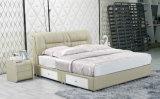 新しい革ベッド、中国のベッド、寝室の家具(J333)