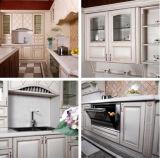 Projetos 2015 simples puros brancos de armários de cozinha da pintura de Hangzhou Welbom