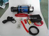12V 12000lbs elektrische Handkurbel mit 9.5mm x 26m synthetischer Handkurbel des Seil-Seil-4X4