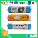 Sacos de lixo biodegradáveis plásticos da corda da tração