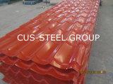 Folha de aço ondulada do material do telhado do metal/telhadura da cor