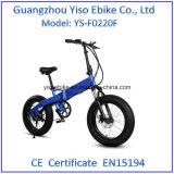 20 дюймов складывая тучный электрический Bike внутри батареи, Bike лития, велосипеда лития, 36V E-Bike низкоуглеродистого, отключение охраны окружающей среды, зеленый цвет идя вне перемещение,