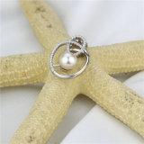 Snh 6mmのニースの品質925silverの女性の自然な真珠のペンダント