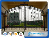 Puerta residencial económica del hierro labrado de la calzada ornamental (dhgate-12)