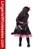 Costume de Cosplay d'usager de chat noir de gosses pour la fille