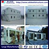 Prefab сложил портативную конструкцию дома контейнера для Myanmar