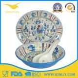 Дешевый европейский Китай мы еды трактира меламина Dinnerware Tableware подноса шара чашки плиты обеда Dishware тарелки пластичной безопасной круглой квадратной самомоднейшей домашней установленный установленный