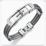 方法ブレスレットの方法宝石類のステンレス鋼の腕輪(BR185)
