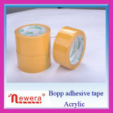Желтая лента упаковки ленты бумажной коробки упаковывая