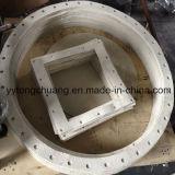 Gaxeta de alta temperatura da fibra de vidro da aplicação para a selagem da fornalha