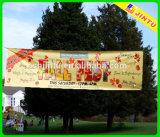 Exhibición al aire libre promocional colgante horizontal de 2015 banderas