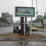 Outdoor Unipole LED Backlit Scrolling Publicité sur la photo