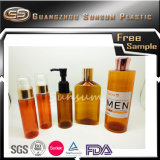 Tampão dourado do frasco dos cosméticos do animal de estimação com cor ambarina para homens