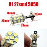 Auto estacionamento do farol da fonte da lâmpada do diodo emissor de luz das lâmpadas H1 27SMD 5050 da névoa do carro da lâmpada H1 que conduz o bulbo de lâmpada