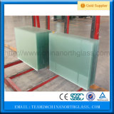 緩和されたガラスの浴室の曇らされたガラス